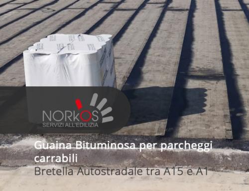 Guaina Bituminosa per parcheggi carrabili | Bretella Autostradale tra A15 e A1